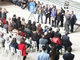 Ato em frente ao Fórum Trabalhista Ruy Barbosa, na Barra Funda, em São Paulo.
