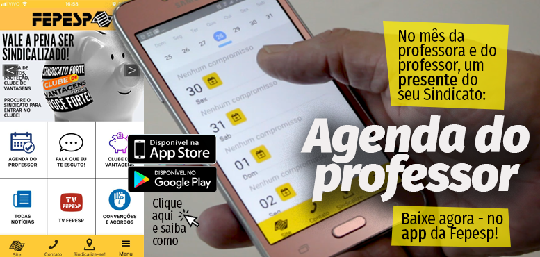 Na palma da mão: app da Fepesp traz serviços exclusivos para o professor