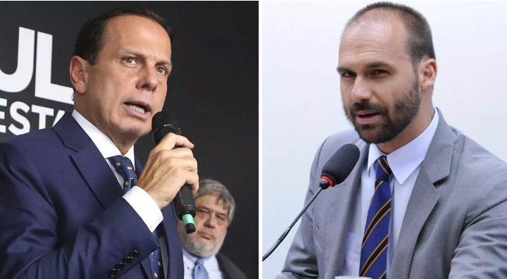Doria critica postagem de Eduardo Bolsonaro sobre coronavírus: 'ele envergonha os brasileiros'