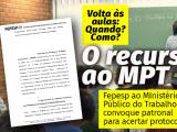 Volta às aulas: Fepesp aciona Ministério Público do Trabalho